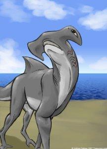 """""""Uma barbatana saindo da areia? Só pode ser uma ilusão!"""" (Gargatan, o guerreiro antes de virar comida de peixe.)."""